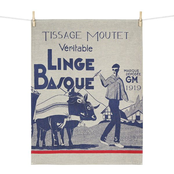 torchon linge basque veritable