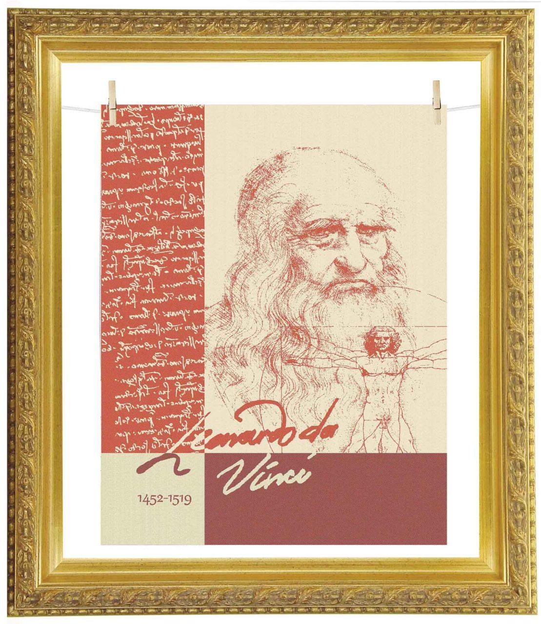 torchon Léonard de Vinci pour l'exposition au Musée du Louvre