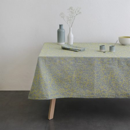 Nappe jacquard Mini Labo vert made in france