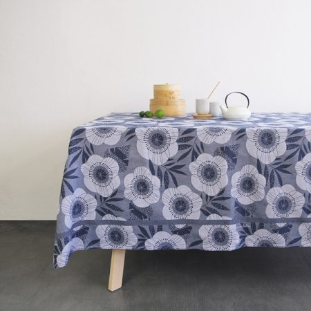Nappe Pavots, Tissage Moutet x Mini labo - 100% made in France