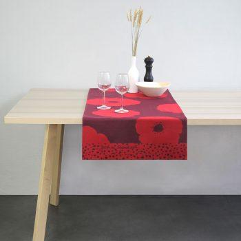 vis a vis ou tête à tête made in france anemone rouge en collaboration avec zofia rostad