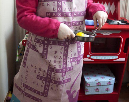 Tuto récup tablier enfant torchon sans couture DIY