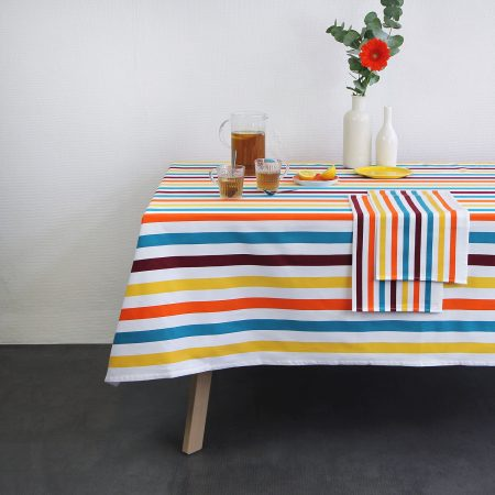 nappe linge basque banca rayures multicolores