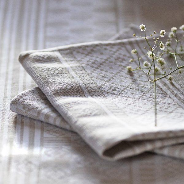 Serviette de table licq métis lin et coton