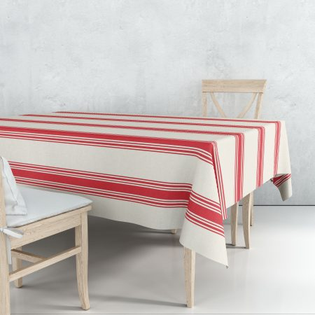 Nappe coutil rouge linge basque