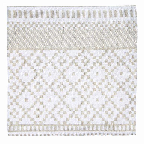 Serviette lin coton Licq Métis