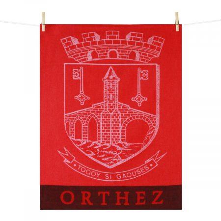 Torchon Orthez blason rouge