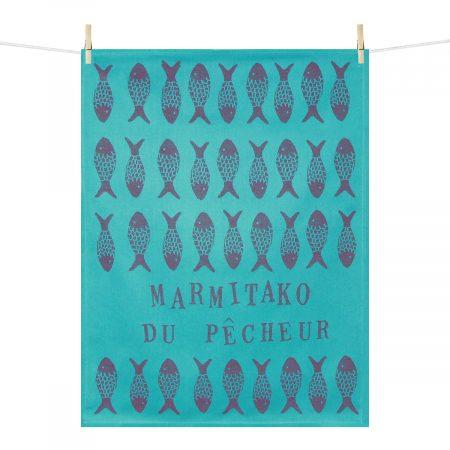 Torchon bleu turquoise marmitako du pêcheur
