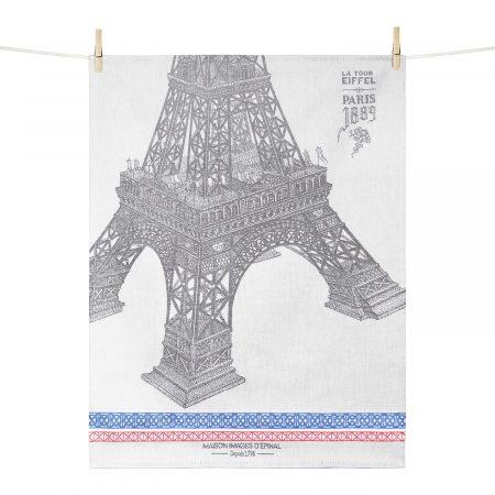 Torchon Paris 1889 - Tour Eiffel - Maison Images d'Epinal