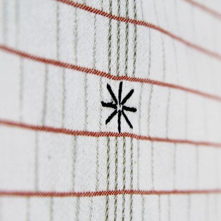 torchon detail broderie design contemporain samuel accoceberry pour collection etxe qui célèbre le linge basque et son indication géographique