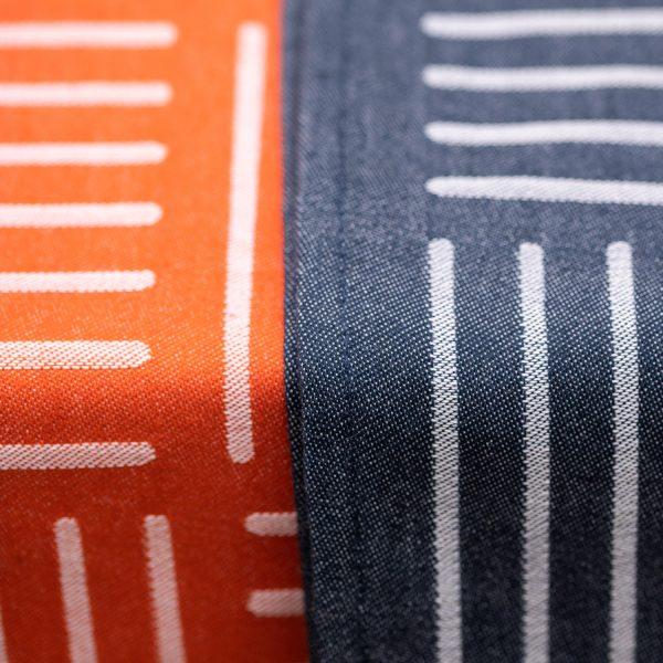 Serviette de table rayure basque linge de table contemporain