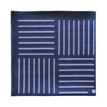 Serviette Fatxada bleu Samuel Accoceberry Tissage Moutet