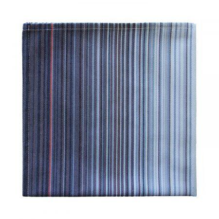 Serviette linge basque rayures bleues Lerroa Samuel Accoceberry Tissage Moutet