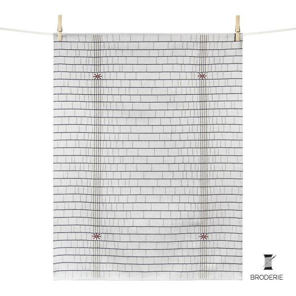 broderie sur linge de table made in france linge basque tissage moutet tisseur depuis 1919