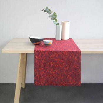 linge jacquard pour la table cadeau made in france original pour toute la famille. Le chemin de table est a utiliser comme set de table ou comme décoration design