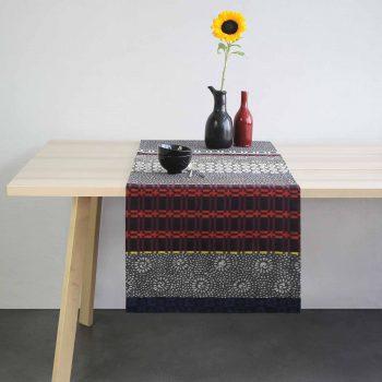 Décoration design linge de table graphique et contemporain pour un intérieur original et unique. Decoration d'inspiration japonaise